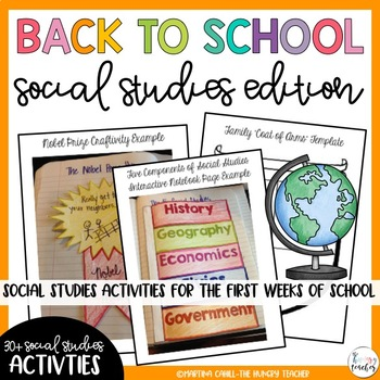 Back to School Beginning of the Year Activities: Social St