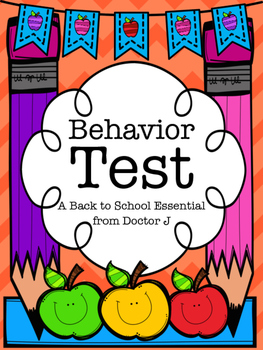 "Back-to-School ""Behavior Test"" for Classroom Management /"