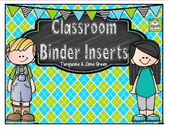 Back to School Binder Inserts