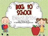 Back to School Blacklines