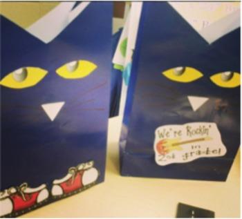 Blue Cat Back to School Treat Bags