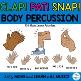 "Music Class Body Percussion Lessons and Activities ""Clap-P"
