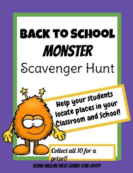 Back to School Scavenger Hunt and Go Monsters!
