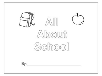 Back to School Book for Pre-K or Kindergarten