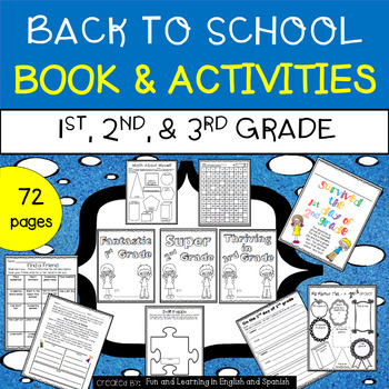 Back to School Booklet & Activities for 1st grade, 2nd gra