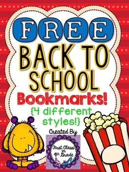 Back to School Bookmarks (Free)