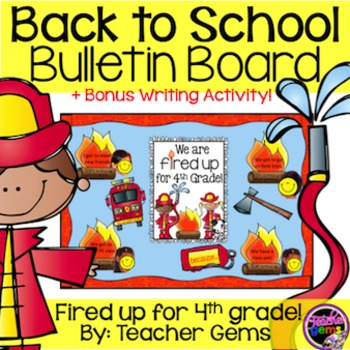 Back to School Bulletin Board Fourth Grade