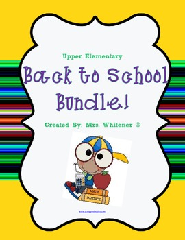Back to School Bundle - Forms & Letters - Upper Elementary