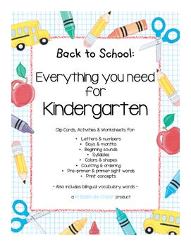Back to School Bundle - HUGE Freebie! - Assessing Kinderga