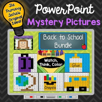 Back to School Bundle Watch, Think, Color Mystery Pictures