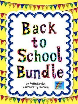 Back to School Bundle from Rainbow City Learning