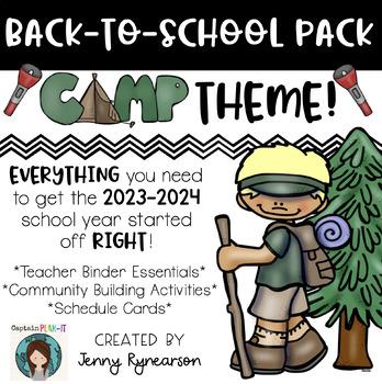 Back-to-School CAMPING Pack! Teacher Binder, Activities, &