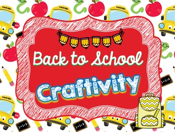 Back to School CRAFTIVITY: Backpack Craft with 29 Get to K