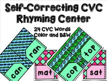 Back to School CVC Rhyming Center