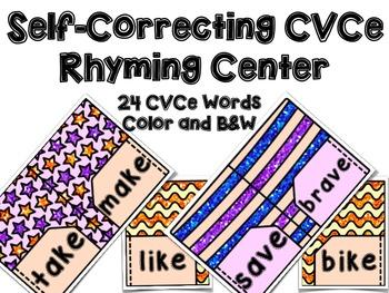 Back to School CVCe Rhyming Center