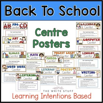 Back to School Activities : Centre Posters and Printables