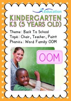 Back to School - Chair, Teacher, Paint (I): Word Family OO