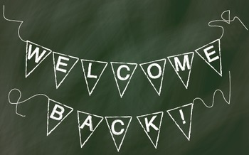 Back to School Chalk Pendant Banner