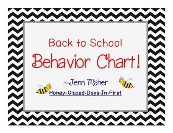 Back to School Chevron Behavior Chart!