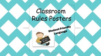 Classroom Rules Posters-Chevron Classroom Management