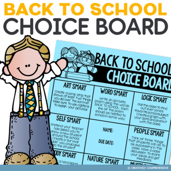 Back to School Choice Board