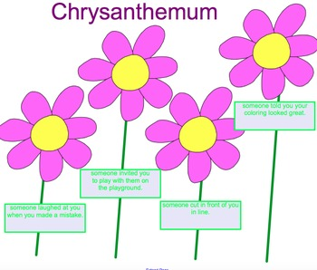 Back to School Chrysanthemum Story Lesson and Smartboard A
