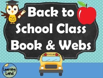 Back to School Class Book & Webs