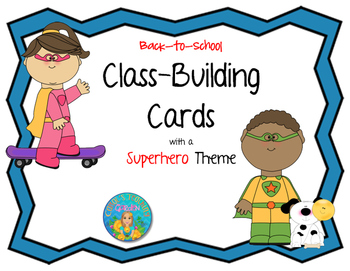 Back-to-School Class-Building Cards with a Superhero Theme