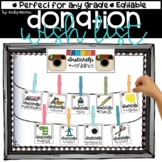 Back to School Class Donation Wishlist Editable
