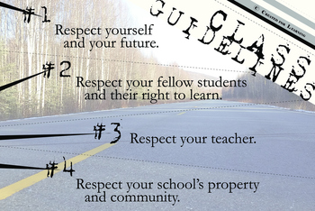 Back to School Guidelines Class Poster