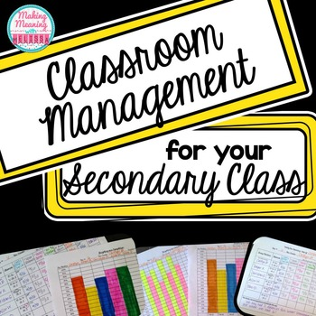 Back to School Class Management and Organization for Middl
