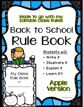 Student Rule Book - Apples Theme