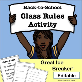 Back to School Class Rules Activity