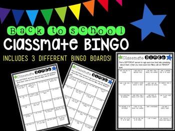 Back to School Classmate Bingo Pack