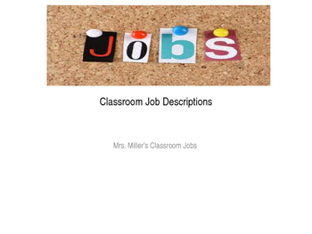 Back to School Classroom Job Description Powerpoint