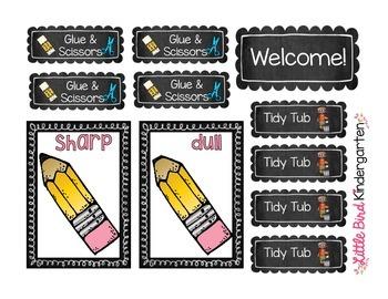 Back to School Classroom Labels FREEBIE