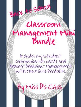 Back to School Classroom Management Mini-Bundle