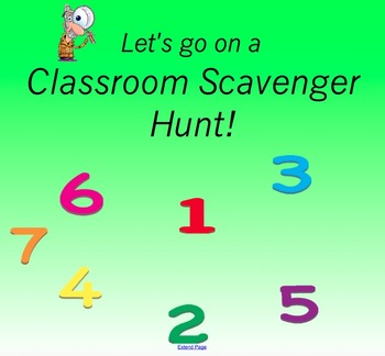 Back to School Classroom Supply Scavenger Hunt