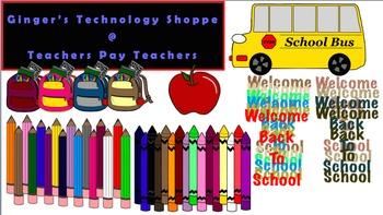 Back to School Clip Art * Pencils * Crayons * School Bus *