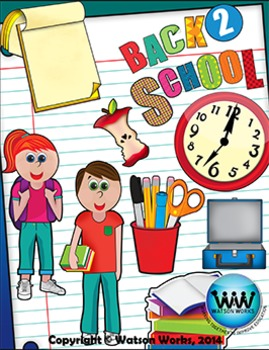 Back to School Clip Art {Watson Works Clip Art/Graphics}