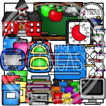 Back to School Supplies Clipart Bundle 1