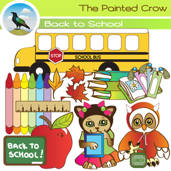 Back to School Clipart. Set of 11 Graphics - The First Day