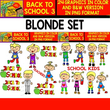 Back to School  Cliparts - Set 3