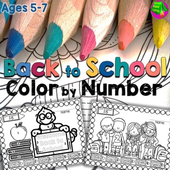 Back to School Color By Number Coloring Pages