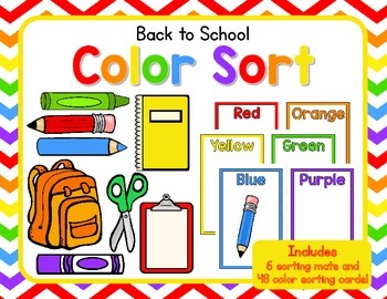 Back to School Color Sort FREEBIE!