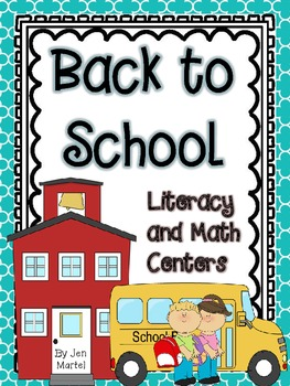 Back to School!  (Common Core Aligned Activities for Liter