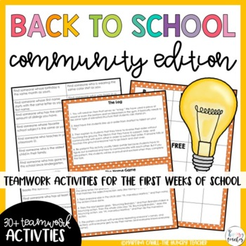 Back to School Community, Team building, Get to Know You,