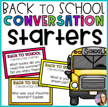 Back to School Conversation Starters
