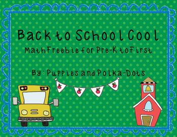 Back to School Cool Math Freebie