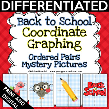 Back to School Coordinate Graphing Ordered Pairs {Mystery